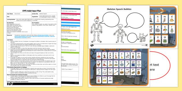 EYFS Skeleton Speech Adult Input Plan and Resource Pack
