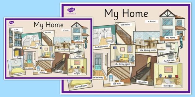 My Home Display Poster English - my home, display poster, english, display, poster, keywords