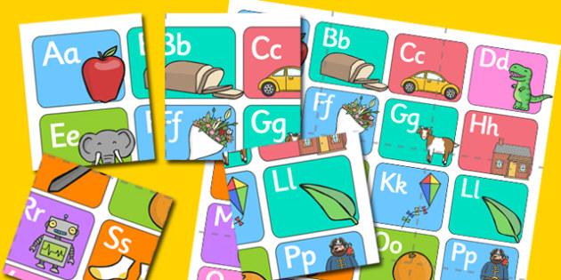 Alphabet Puzzle - alphabet, puzzle, games, a-z, literacy, english