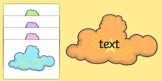 Editable Magic Clouds - editable, magic clouds, magic, clouds, display