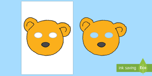 Bear Mask - bear, teddy, children in need, CIN, charity, event, pudsy