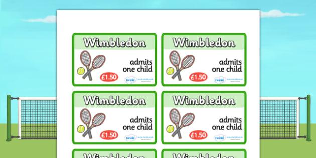 Wimbledon Tickets - wimbledon, wimbledon tickets, wimbledon role play tickets, wimbledon role play, tennis, sports, sports role play, tennis role play