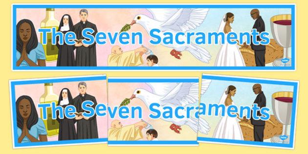 Seven Sacraments Banner - display, RE
