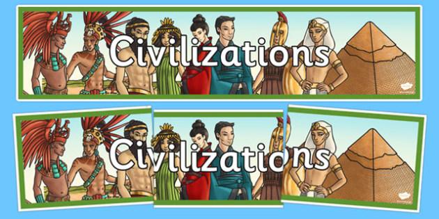Civilizations Display Banner - civilisations, civilizations, display banner, display, banner