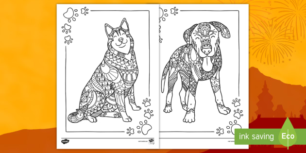 Dog Coloring Pages: Printable Coloring Pages of Dogs for Dog ... | 315x630