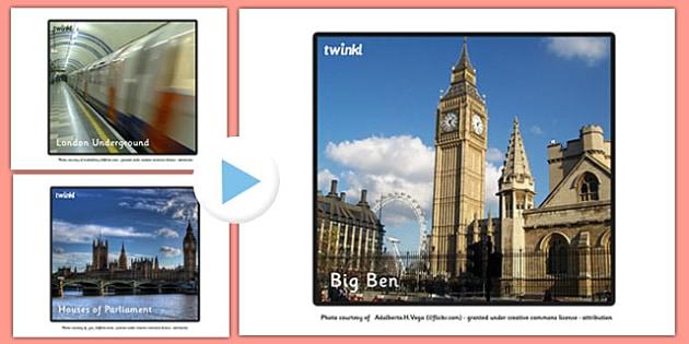 London Landmark Photos PowerPoint - london, landmark, photo