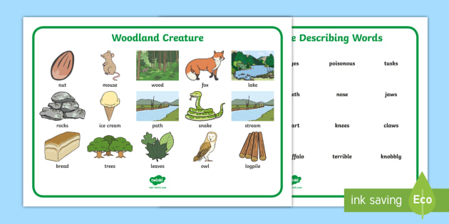 Woodland Creature Word Mat The Gruffalo Resources Mouse