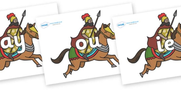 Phase 5 Phonemes on Egyptian Warriors - Phonemes, phoneme, Phase 5, Phase five, Foundation, Literacy, Letters and Sounds, DfES, display