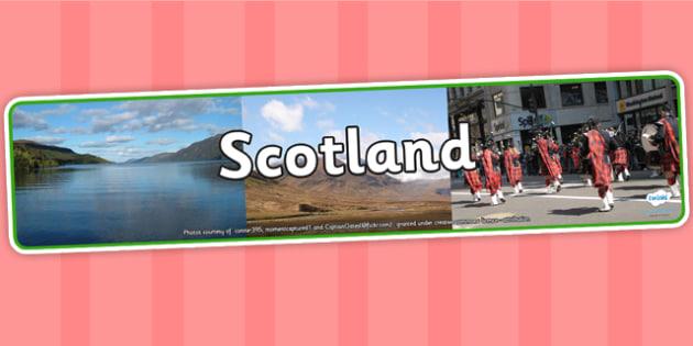 Scotland Photo Display Banner - scotland, photo display banner, display banner, display, banner, photo banner, header, display header, photo header, photo