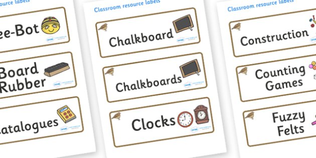 Lark Themed Editable Additional Classroom Resource Labels - Themed Label template, Resource Label, Name Labels, Editable Labels, Drawer Labels, KS1 Labels, Foundation Labels, Foundation Stage Labels, Teaching Labels, Resource Labels, Tray Labels, Pri