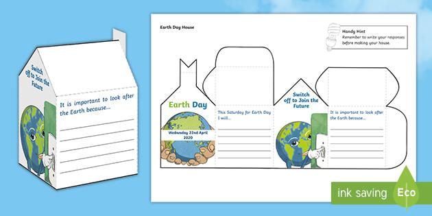 Earth Day 2020 House Activity (teacher made)