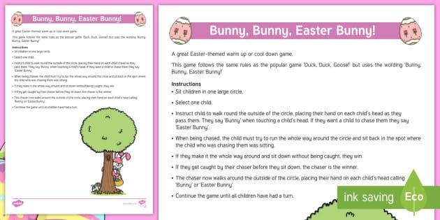 Bunny, Bunny, Easter Bunny!' Game Adult Guidance
