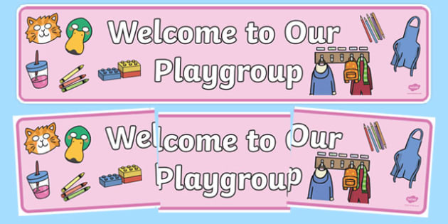 Playgroup Welcome Display Banner - Welcome classroom sign, welcome, welcome sign, door sign, class sign, playgroup sign, class door sign