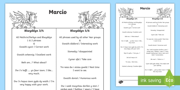 Incidental Welsh Marking in Key Stage 2 A4 Display Poster - Welsh Language Pattern Themed Resources, Welsh, Marking, Incidental Welsh.,Welsh