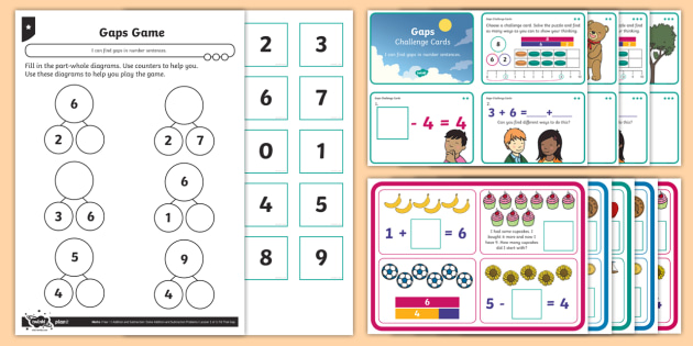 Missing Number Puzzles Differentiated Worksheet Activity Sheets