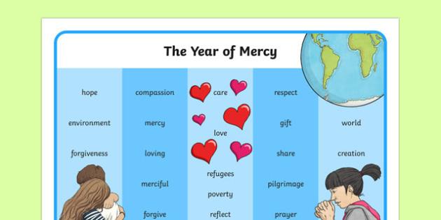 Year of Mercy Word Mat