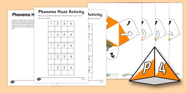 Phoneme Hunt Activity - phoneme, hunt, activity, words, english
