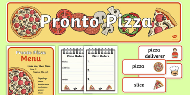 Pizza Shop Role Play Pack - pizza, pizza shop, pizza deliverer, slice, base, sauce, cheese, making pizza, italian, Italy
