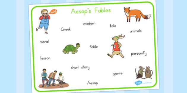 Aesops Fables Word Mat - australia, word, mat, aesop, fables
