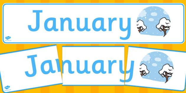 January Display Banner - january, display banner, display, banner, months, year