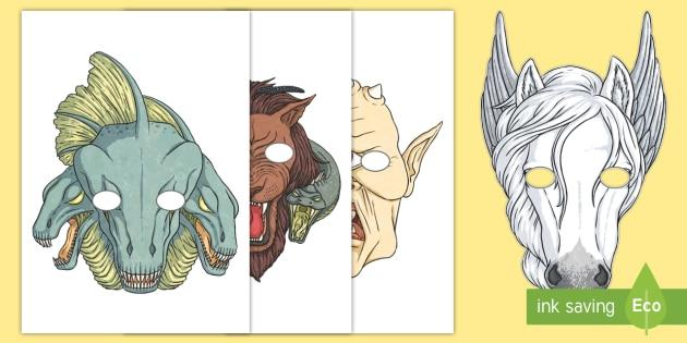 NEW * Greek Mythical Creatures Role-Play Masks - mythological