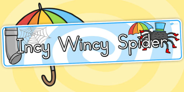 The Incy Wincy Spider Display Banner - Australia, Incy, Wincy