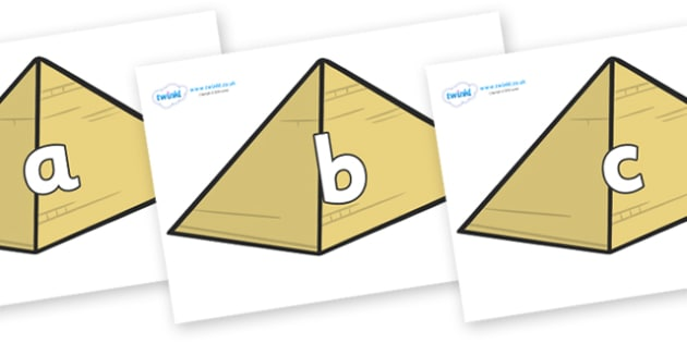 Phase 2 Phonemes on Pyramids - Phonemes, phoneme, Phase 2, Phase two, Foundation, Literacy, Letters and Sounds, DfES, display