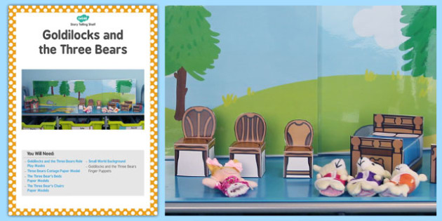 Goldilocks and the Three Bears Storytelling Shelf Card - story