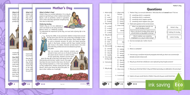 lks2 mother 39 s day differentiated reading comprehension activity. Black Bedroom Furniture Sets. Home Design Ideas