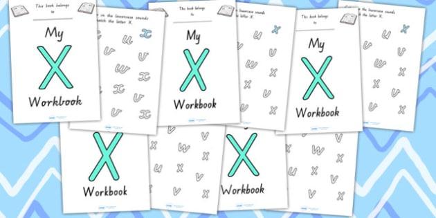 My Workbook X Uppercase - letter formation, fine motor skills
