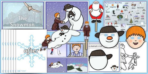 Story Sack Resource Pack to Support Teaching on The Snowman - story sack, story books, story book sack, stories, story telling, childrens story books, traditional tales