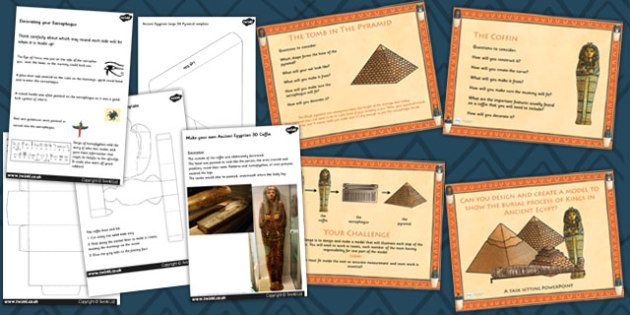 Model to Demonstrate Ancient Egyptian Burial Lesson Teaching Pack