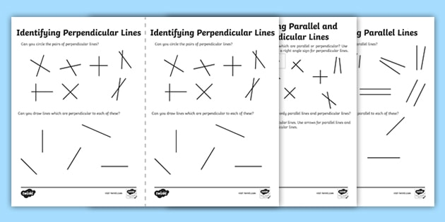 Identifying Parallel and Perpendicular Lines Worksheet ...