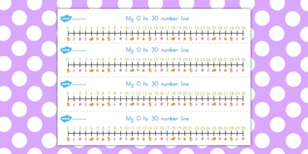 The Lion and the Mouse Number Lines 0-30 - australia, number