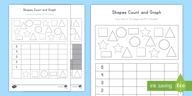 Shape Count And Graph Activity Sheet