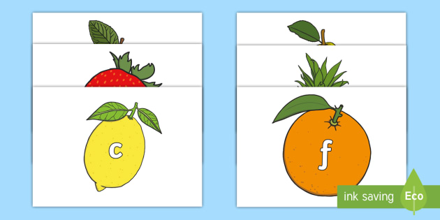 FREE! - A-Z Alphabet on Fruit - Fruit, Alphabet frieze