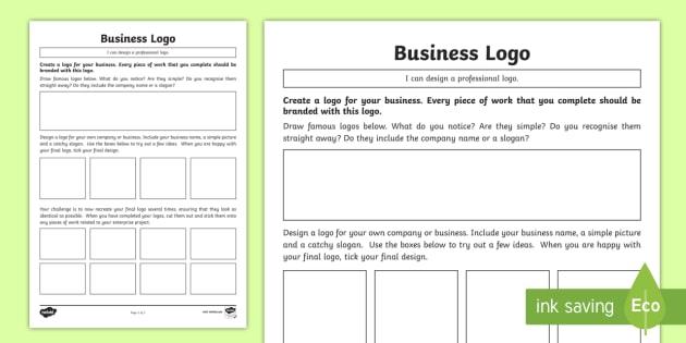 Business Logo Worksheet Worksheet Cfe Enterprise Financial