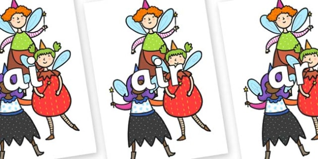 Phase 3 Phonemes on Good Fairies - Phonemes, phoneme, Phase 3, Phase three, Foundation, Literacy, Letters and Sounds, DfES, display