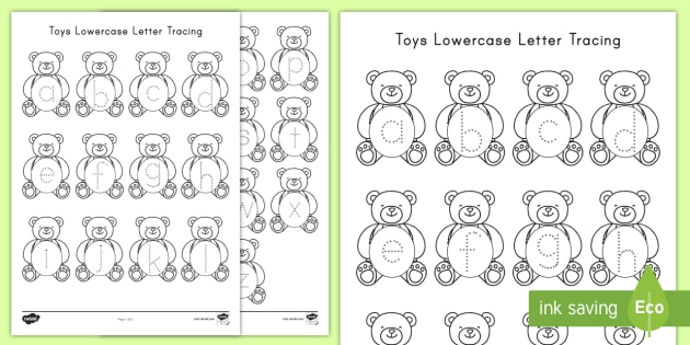 toys lowercase letter tracing worksheet activity sheet With letter tracing toy
