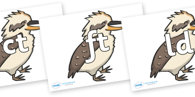Final Letter Blends on Kookaburras - Final Letters, final letter, letter blend, letter blends, consonant, consonants, digraph, trigraph, literacy, alphabet, letters, foundation stage literacy