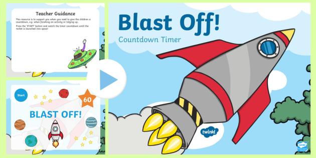 Blast Off Countdown Timer Powerpoint Eyfs Ks1 Behaviour Manage Management
