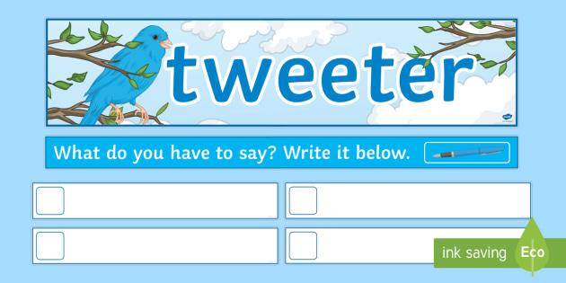 Tweeter 'What Do You Have to Say?' Display Pack  - KS3/4 Display Resources tweeter form