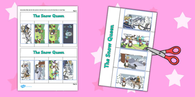 The Snow Queen Story Writing Flap Book - flap book, snow queen
