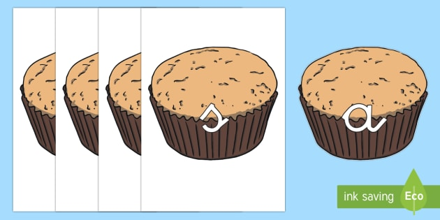 Tarjetas de fonemas: Cupcakes - lecto, leer, primeros sonidos, comida