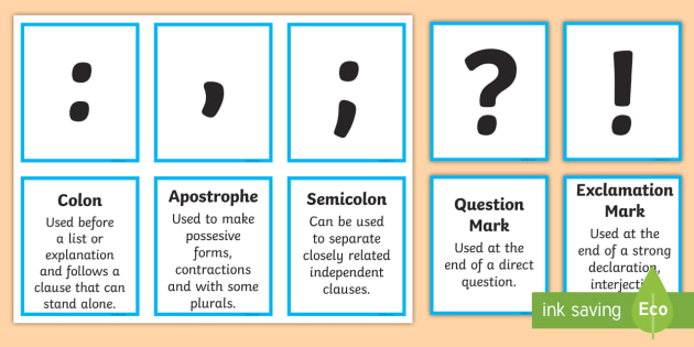 all punctuation marks in english
