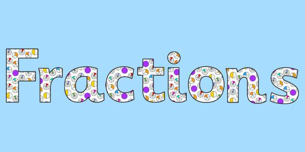 Image result for fractions banner