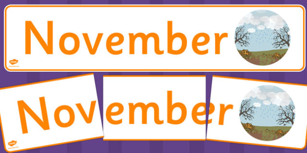 November Display Banner - november, display banner, display, banner, months, year