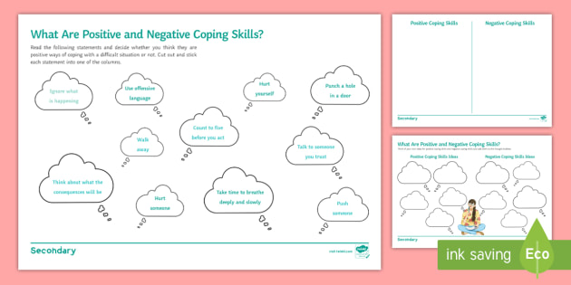 What Are Positive and Negative Coping Skills? Worksheet