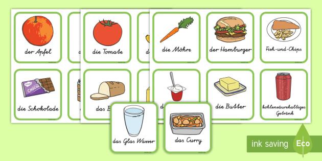 Gesundes und ungeseundes Essen Karten zum Sortieren - Gesundes