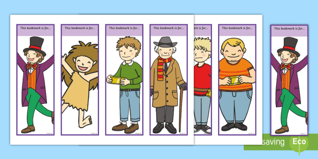 Editable Bookmarks to Support Teaching on Charlie and the Chocolate Factory - Charlie and the chocolate factory, charlie and the chocolate factory bookmarks, bookmarks